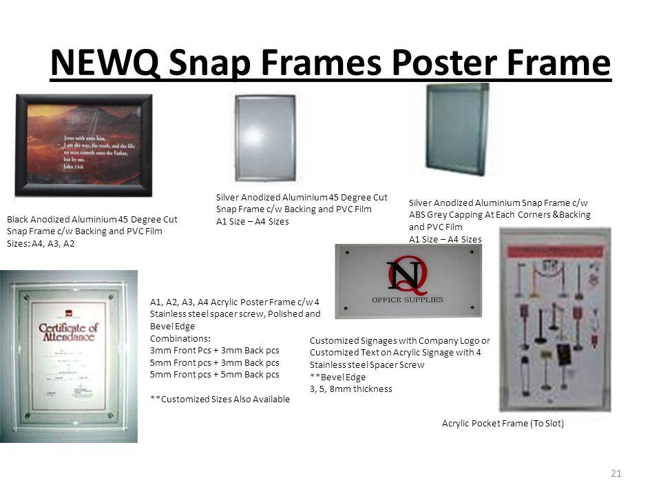NEWQ Snap Frames Poster Frame