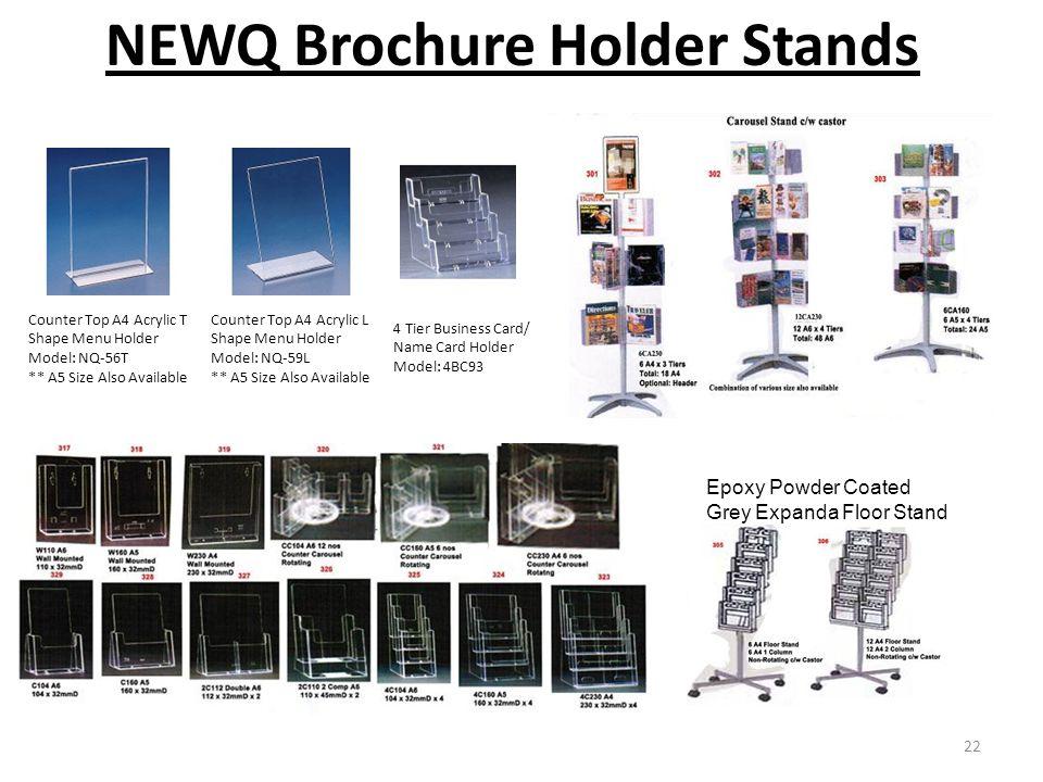 NEWQ Brochure Holder Stands