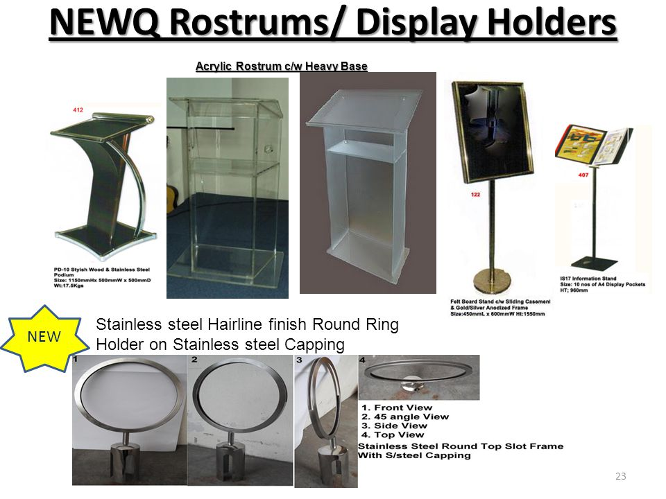 NEWQ Rostrums/ Display Holders
