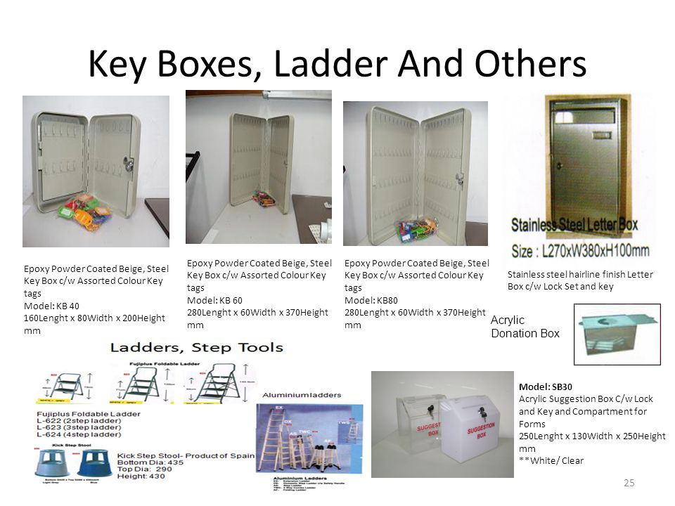 Key Boxes, Ladder And Others