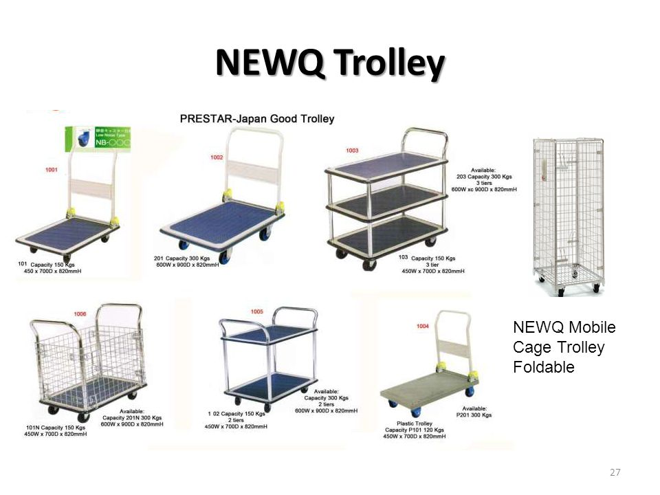 NEWQ Trolley NEWQ Mobile Cage Trolley Foldable