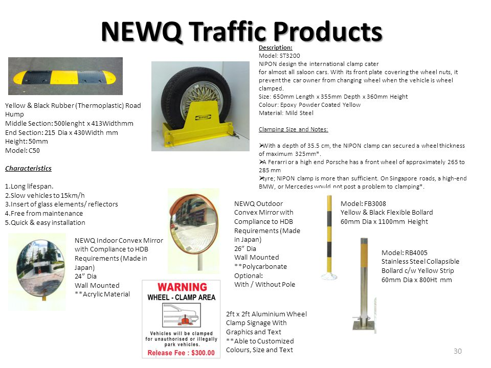 NEWQ Traffic Products Yellow & Black Rubber (Thermoplastic) Road Hump