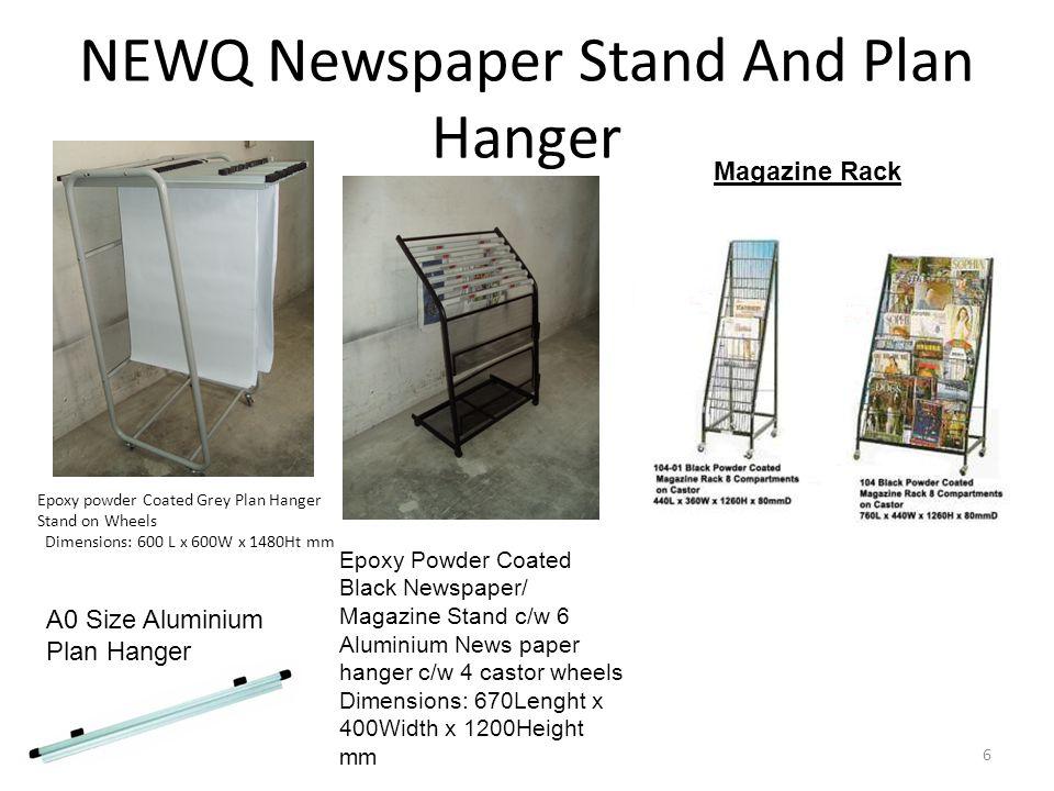 NEWQ Newspaper Stand And Plan Hanger