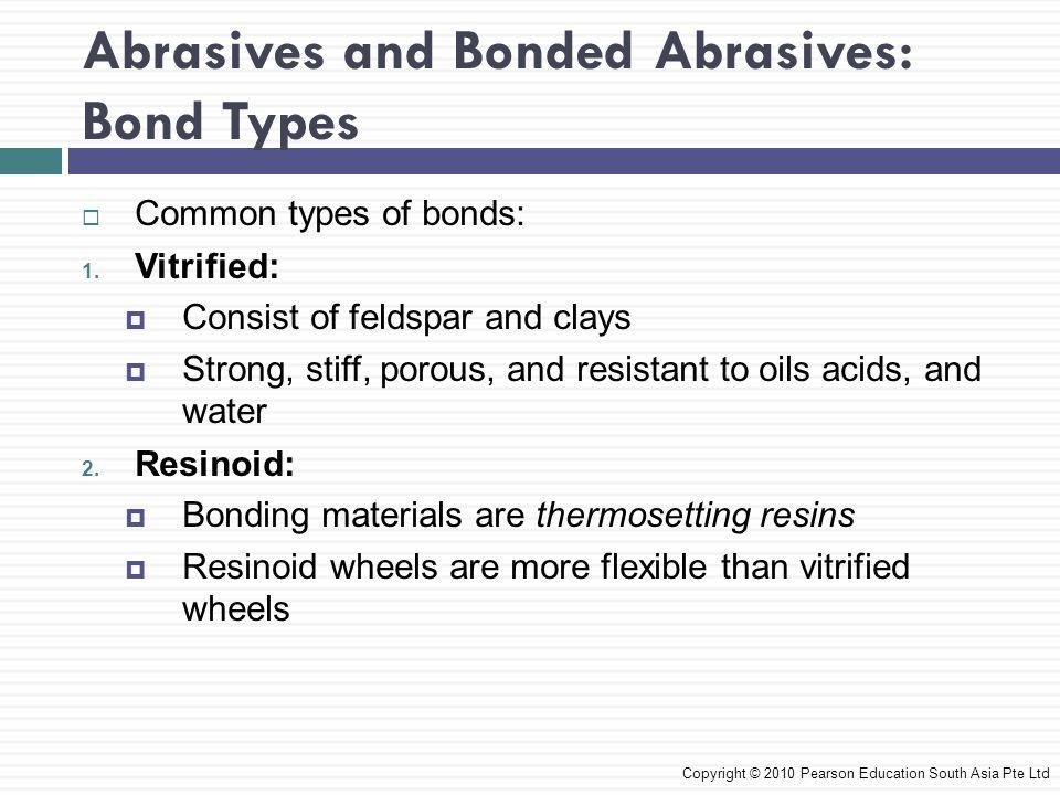 Abrasives and Bonded Abrasives: Bond Types