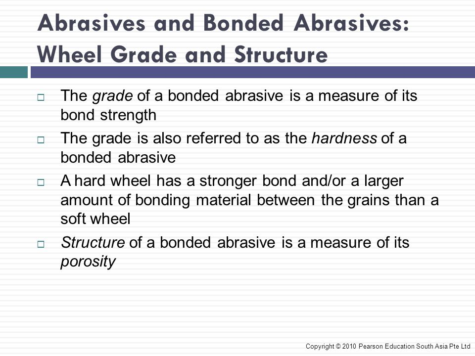 Abrasives and Bonded Abrasives: Wheel Grade and Structure