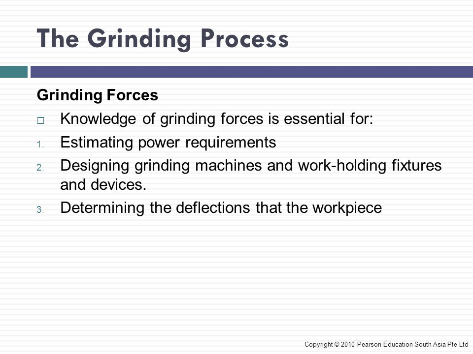 The Grinding Process Grinding Forces