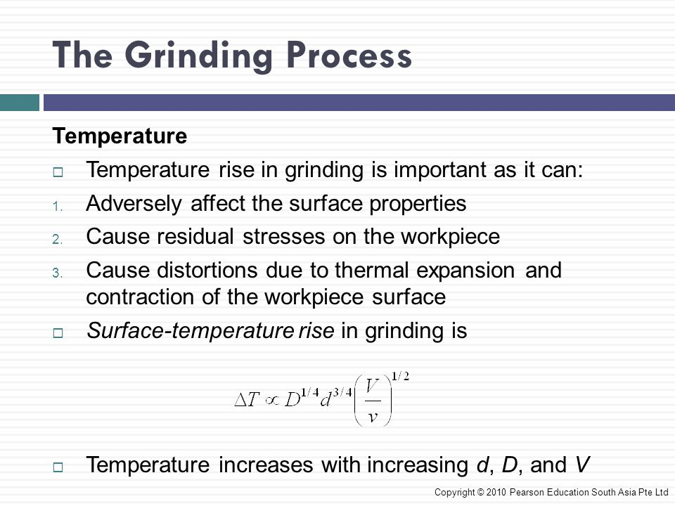 The Grinding Process Temperature