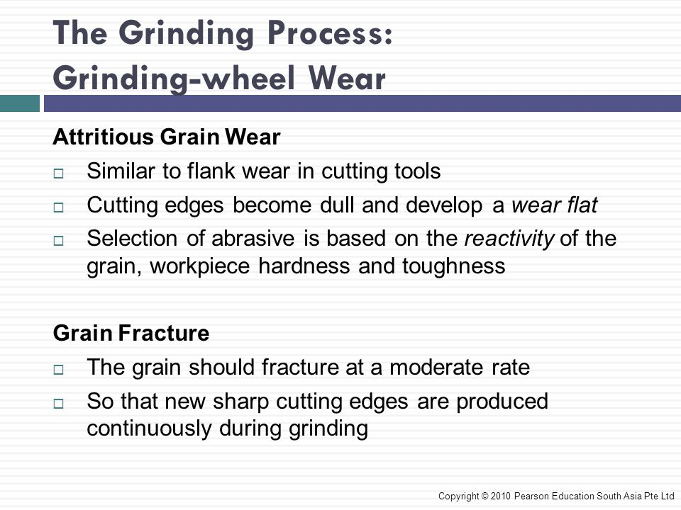The Grinding Process: Grinding-wheel Wear