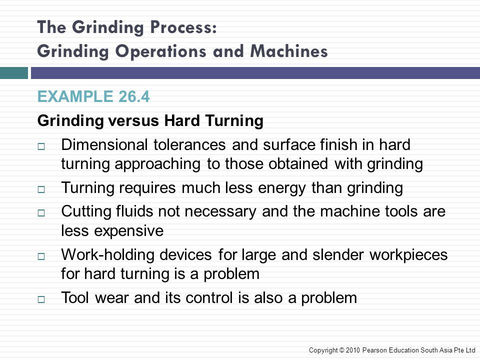 The Grinding Process: Grinding Operations and Machines
