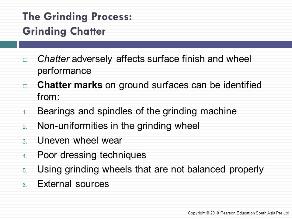 The Grinding Process: Grinding Chatter