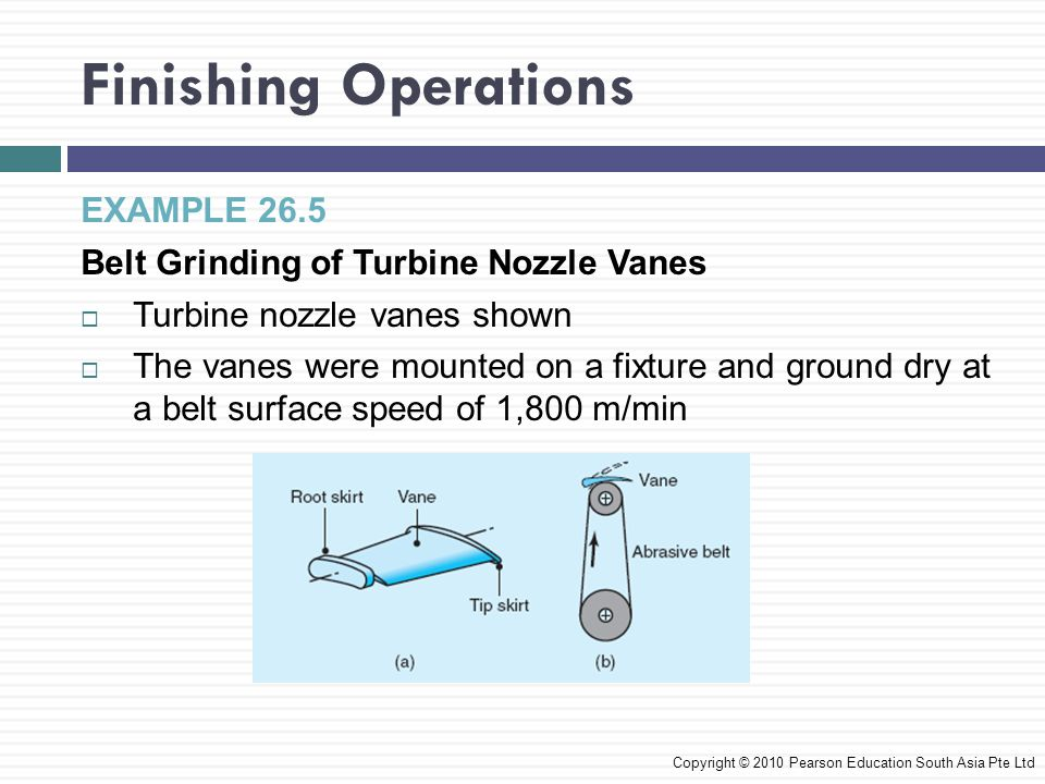 Finishing Operations EXAMPLE 26.5