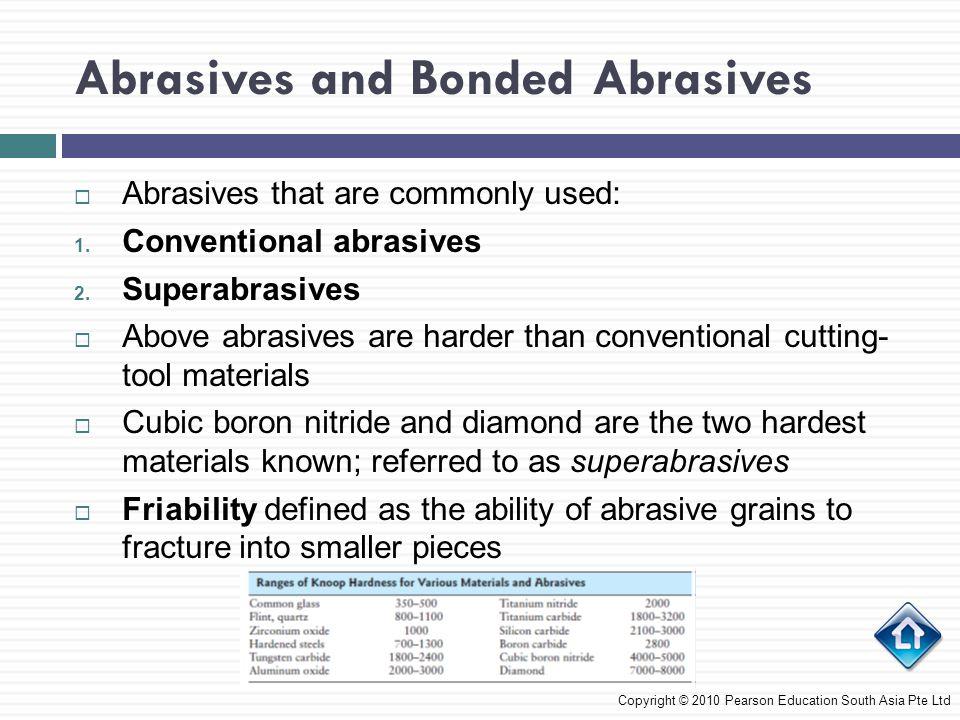 Abrasives and Bonded Abrasives