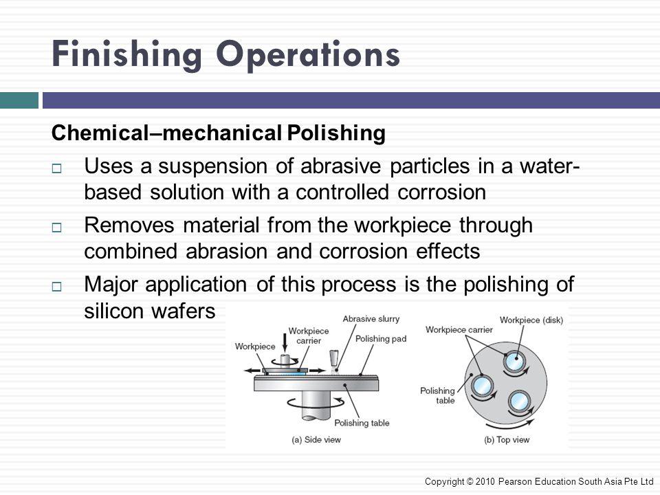 Finishing Operations Chemical–mechanical Polishing