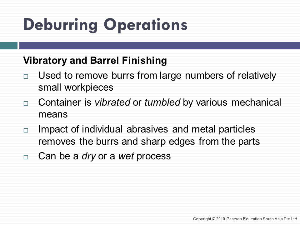 Deburring Operations Vibratory and Barrel Finishing
