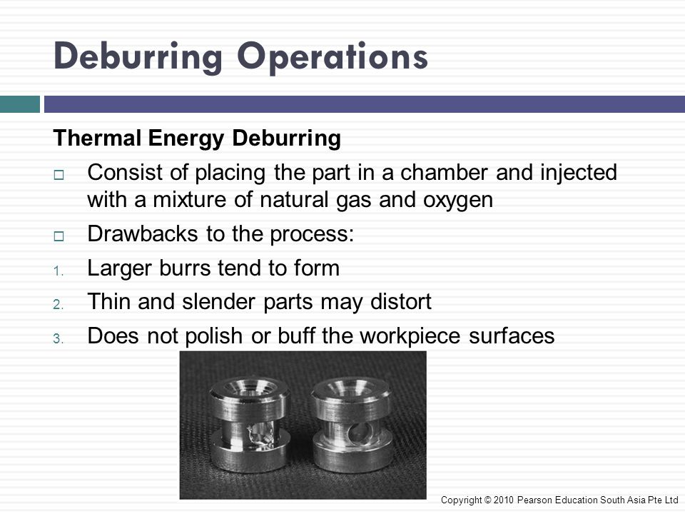 Deburring Operations Thermal Energy Deburring
