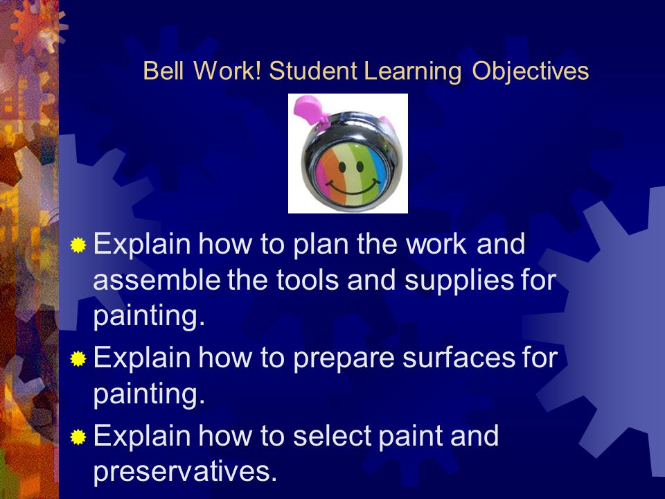 Bell Work! Student Learning Objectives