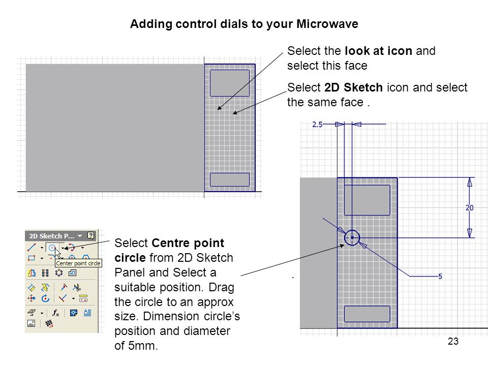 Adding control dials to your Microwave