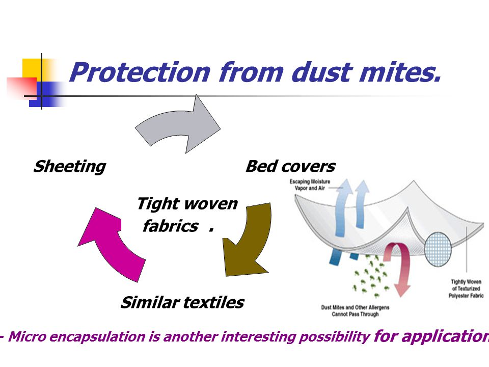 Protection from dust mites.