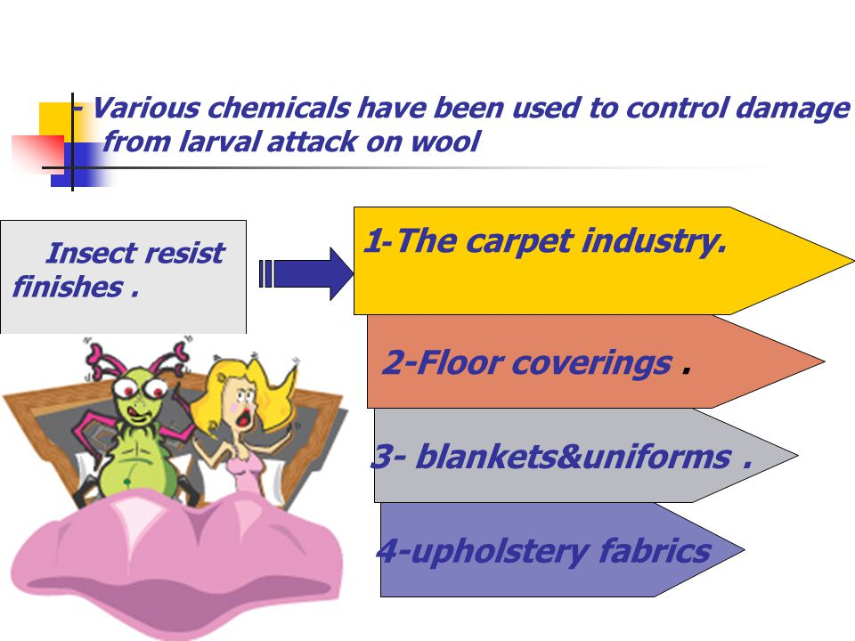 The carpet industry. -1 2-Floor coverings . 3- blankets&uniforms .