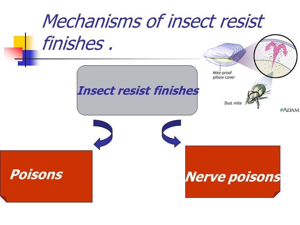 Mechanisms of insect resist finishes .