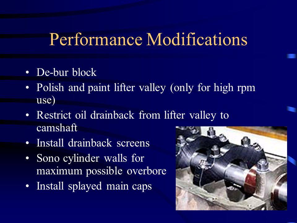 Performance Modifications