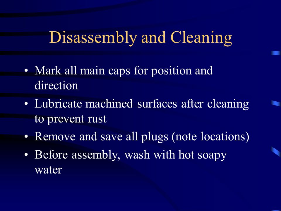 Disassembly and Cleaning