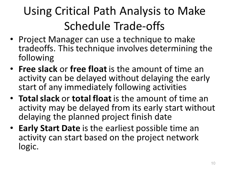critical path analysis its use and For many projects and industries, a critical path analysis is the ideal approach however, like everything, cpa has its limitations and can create problems, too characteristics of critical path anlaysis.