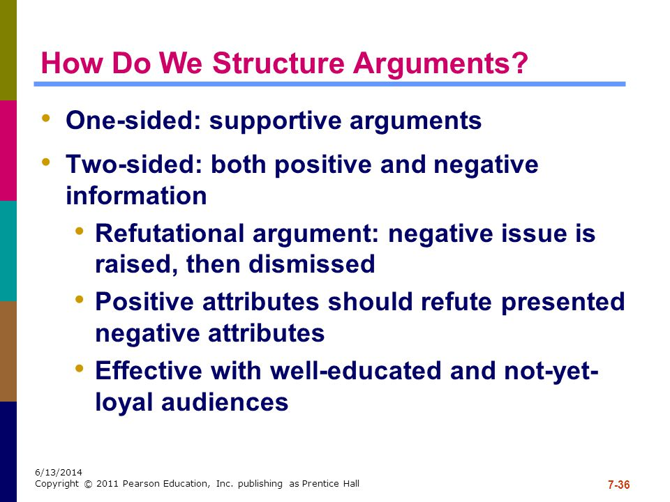 How Do We Structure Arguments