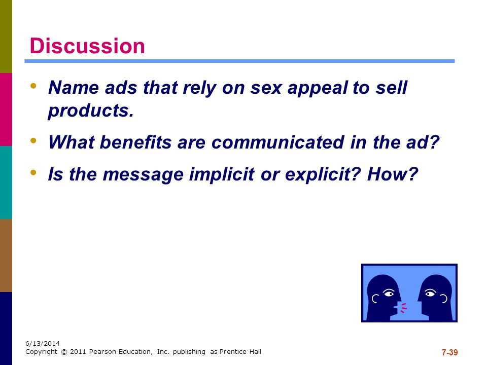 Discussion Name ads that rely on sex appeal to sell products.