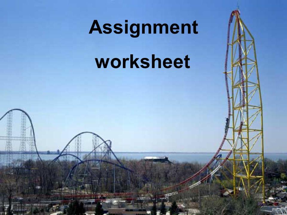 Assignment worksheet