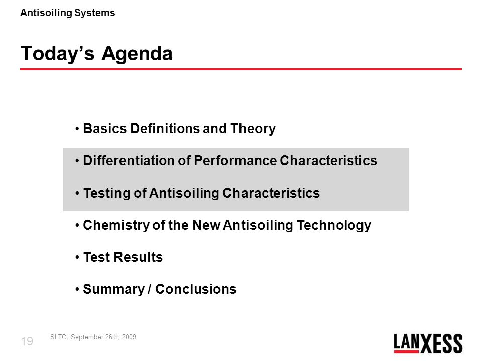 Today's Agenda Basics Definitions and Theory