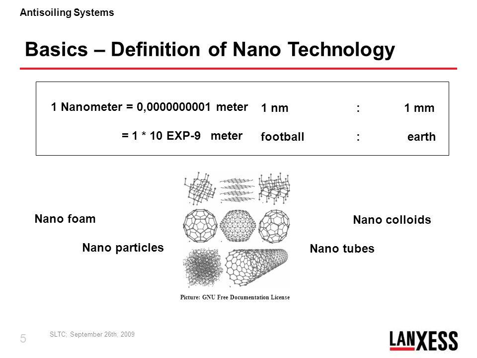 Basics – Definition of Nano Technology