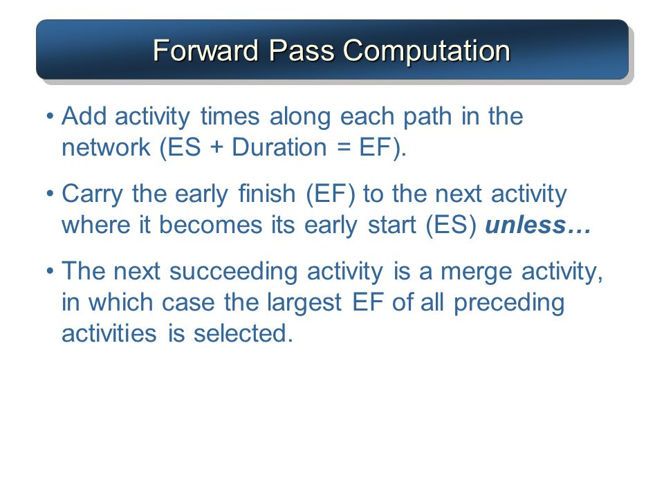 Forward Pass Computation