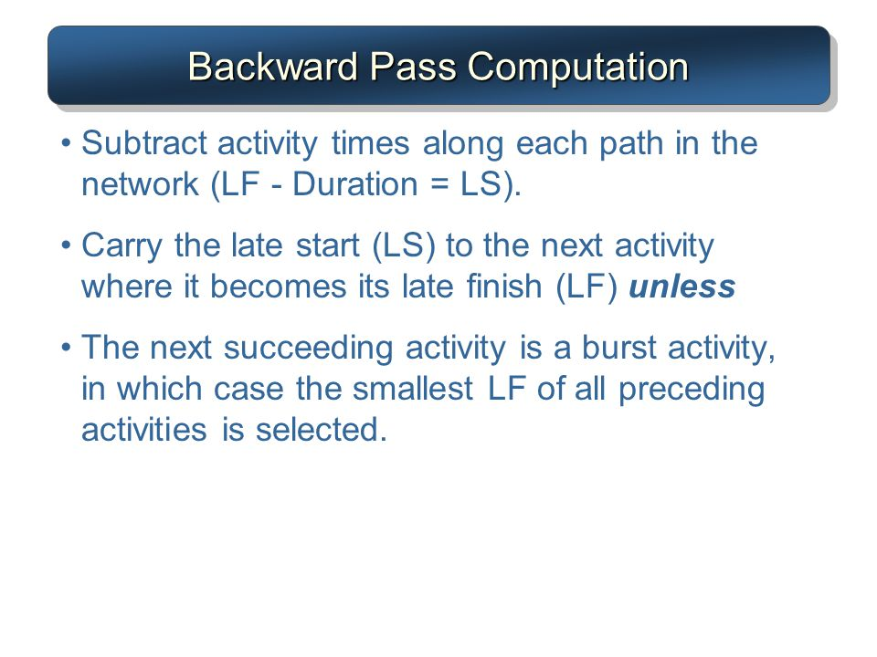 Backward Pass Computation