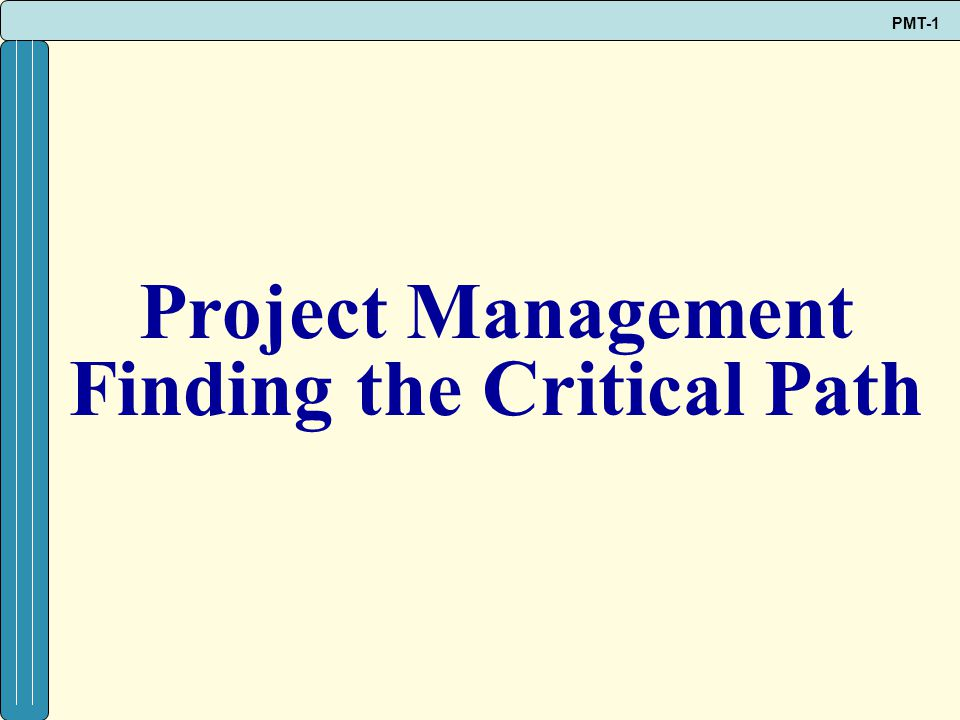 Finding the Critical Path