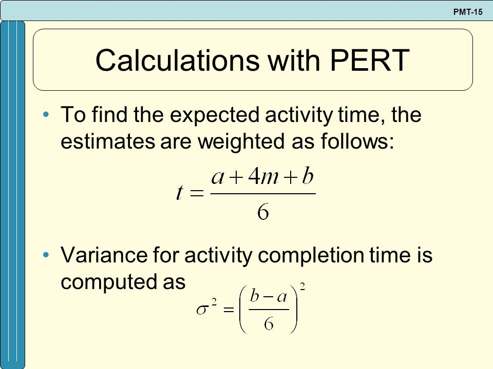 Calculations with PERT