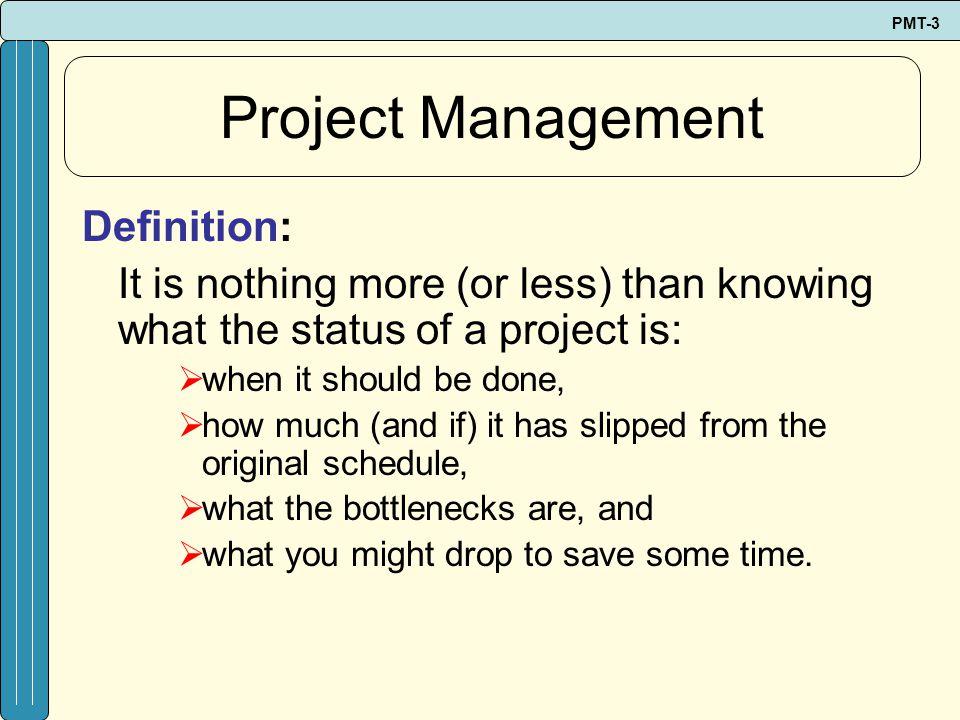 Project Management Definition:
