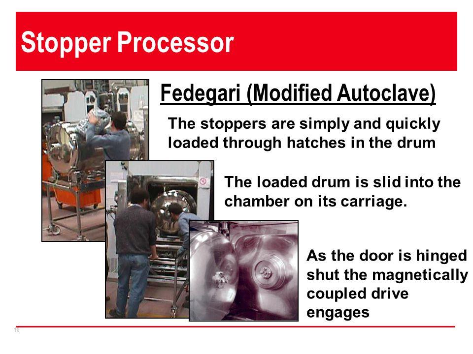 Stopper Processor Fedegari (Modified Autoclave)