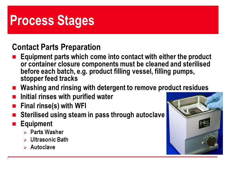 Process Stages Contact Parts Preparation
