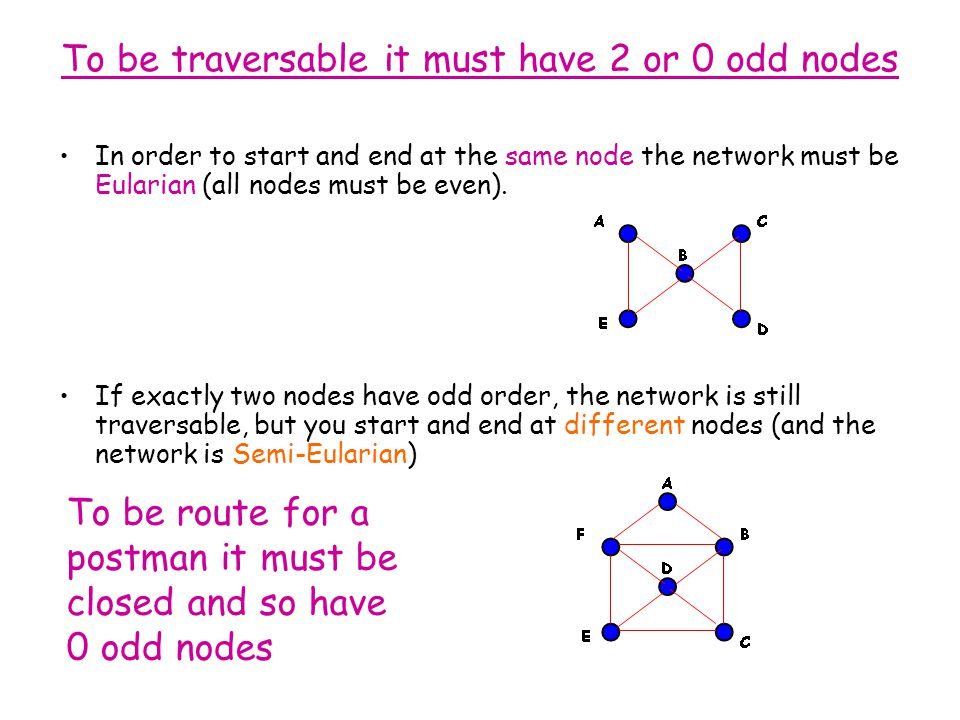 To be traversable it must have 2 or 0 odd nodes