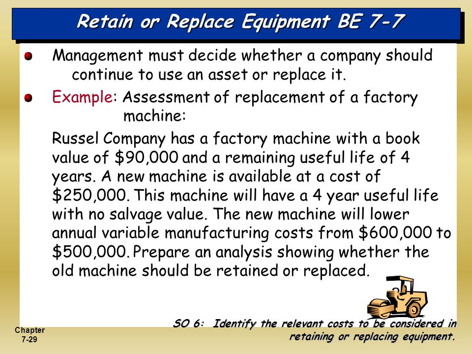 Retain or Replace Equipment BE 7-7