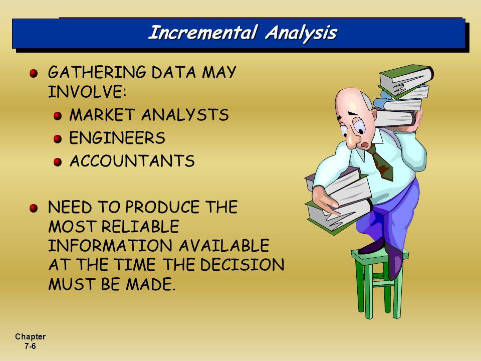Incremental Analysis GATHERING DATA MAY INVOLVE: MARKET ANALYSTS