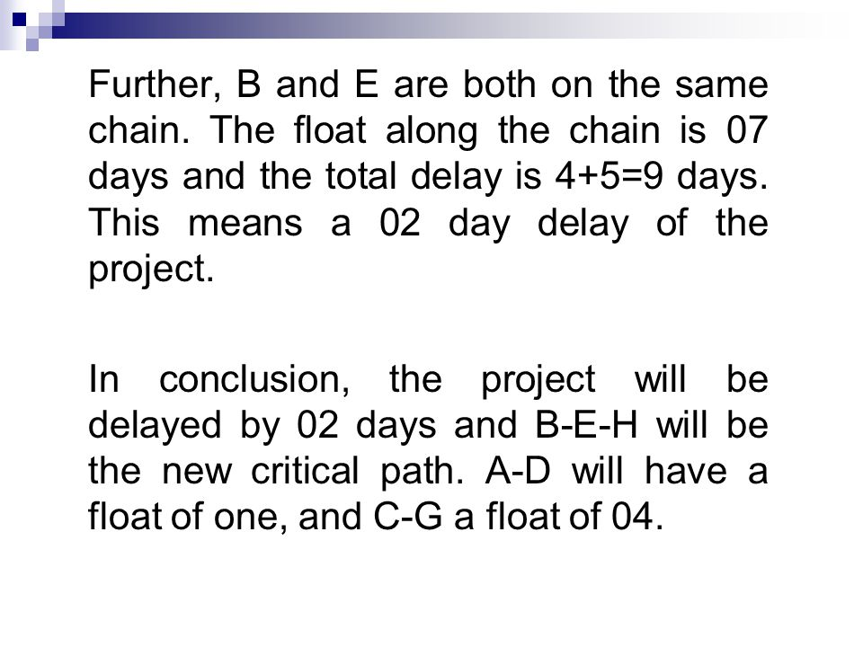 Further, B and E are both on the same chain