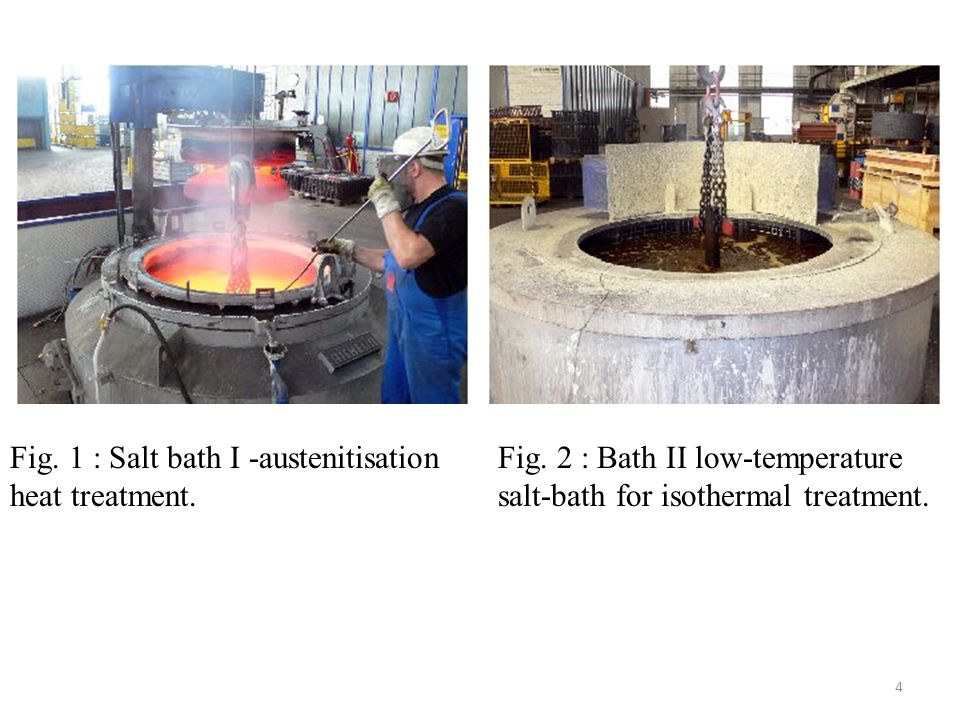 Fig. 1 : Salt bath I -austenitisation heat treatment.