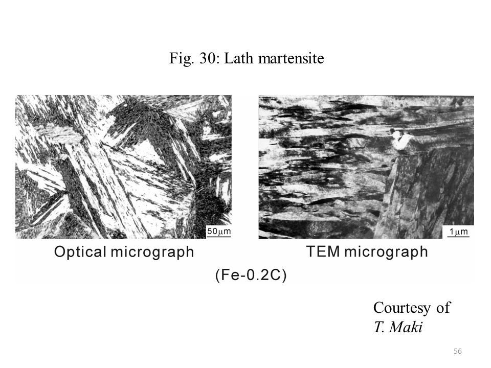 Fig. 30: Lath martensite Courtesy of T. Maki