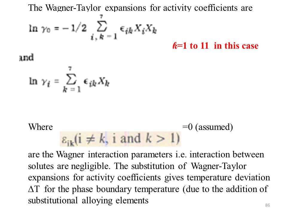 The Wagner-Taylor expansions for activity coefficients are