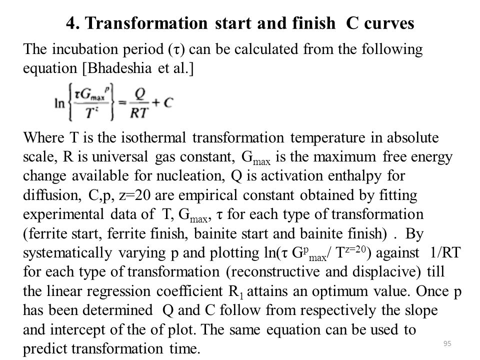4. Transformation start and finish C curves