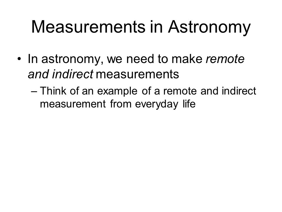 Measurements in Astronomy
