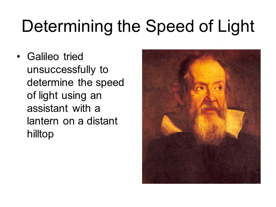 Determining the Speed of Light