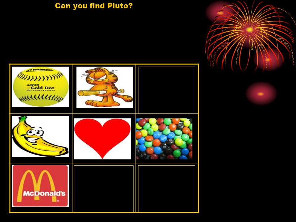 Can you find Pluto